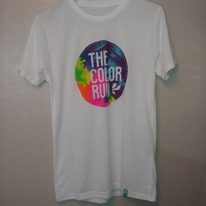 Tops - Color Run Colorful Graphic Tee #Happiest5K